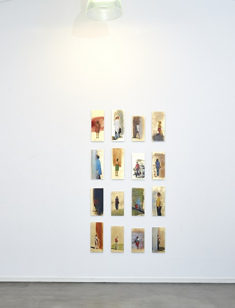 Galerieansicht mit Thomas Kälberlohs Serie Ikonen