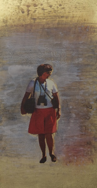 Thomas Kälberloh, aus der Serie Ikonen, 2018, Mixed Media / Aludibond, 46 x 24 cm
