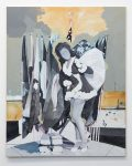 Lou Ros, Playmate Nr. 9, 2018, Öl, Acryl, Pastel, Aquarell auf Leinwand, 200 x 160 cm