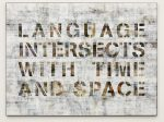 Pascal Dombis, Language intersects with time and space, 2018, Weisser UV Direktprint, Pigmentdruck, Archivpapier, Aludibond, 120 x 90 cm