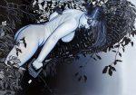 Amina Broggi, Den Ast absägen auf dem man sitzt, 2018, Acryl auf Leinwand, 140 x 200 cm