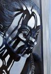 Amina Broggi, Wo Licht ist, ist auch Schatten 2, 2018, Acryl auf Leinwand, 200 x 140 cm