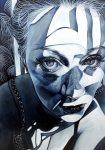Amina Broggi, Wo Licht ist, ist auch Schatten 3, 2018, Acryl auf Leinwand, 200 x 140 cm