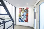 Pascal Vilcollet, Place Monge 4, 2018, Öl / Acryl auf Leinwand, 196 x 130 cm