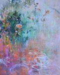 Cris Pink, Hinter den Blättern verborgen, 2019,Öl auf Leinwand, 162 x 130cm