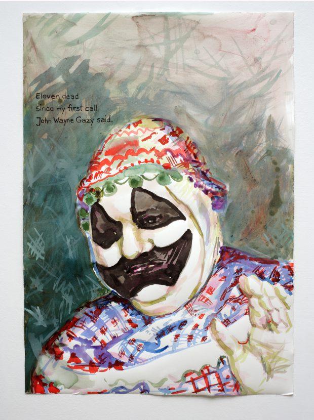 Cony Theis, Eleven Dead (John Wayne Gacy), 2013, Chin. Tusche, Bütten, 53,5 x 76 cm