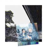 Dirk Brömmel, KB Nr. 27, 1971_2016 (Edward Kennedy, Walter Scheel), © Collage - picture alliance Horst Ossinger; Dirk Brömmel, Mixed Media Aludibond, 60 x 60 cm, Ed. 4