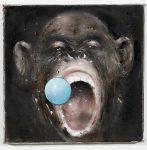 Blue Ball, 2020, Öl auf Leinwand, 30x30cm