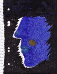 Kyung-hwa Choi-ahoi, part of blue, 2020, Notizblatt, Kugelschreiber, 16 x 29 cm
