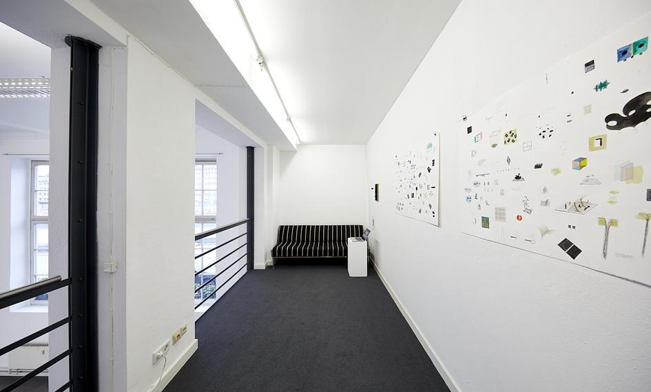 Ausstellungsansicht auf der Empore