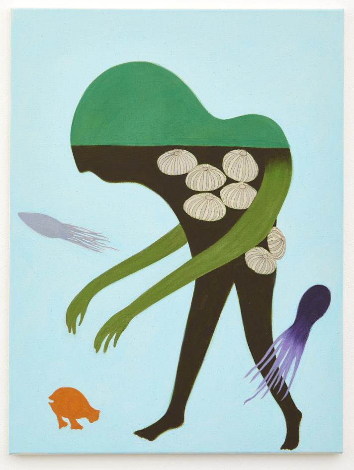 Nobuko Watabiki, Kürbisinsel, 2020, Acryl auf Leinwand, 80 x 60 cm_3.600€