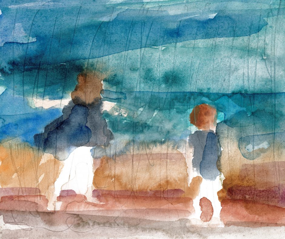 Ein Tag am Meer, 2021, Aquarell, 20 x 23 cm