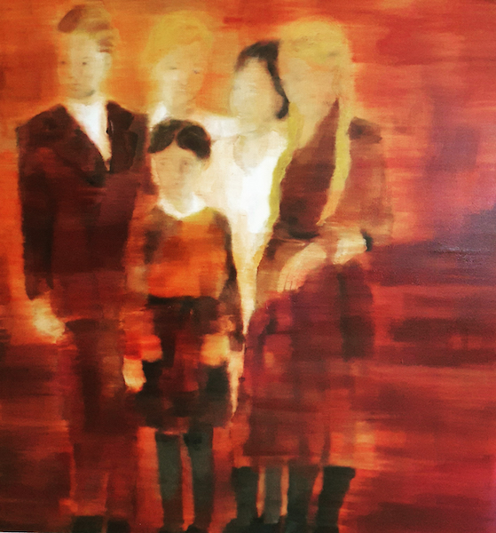 Familie, 2021, Öl auf Nessel, 150 x 135 cm