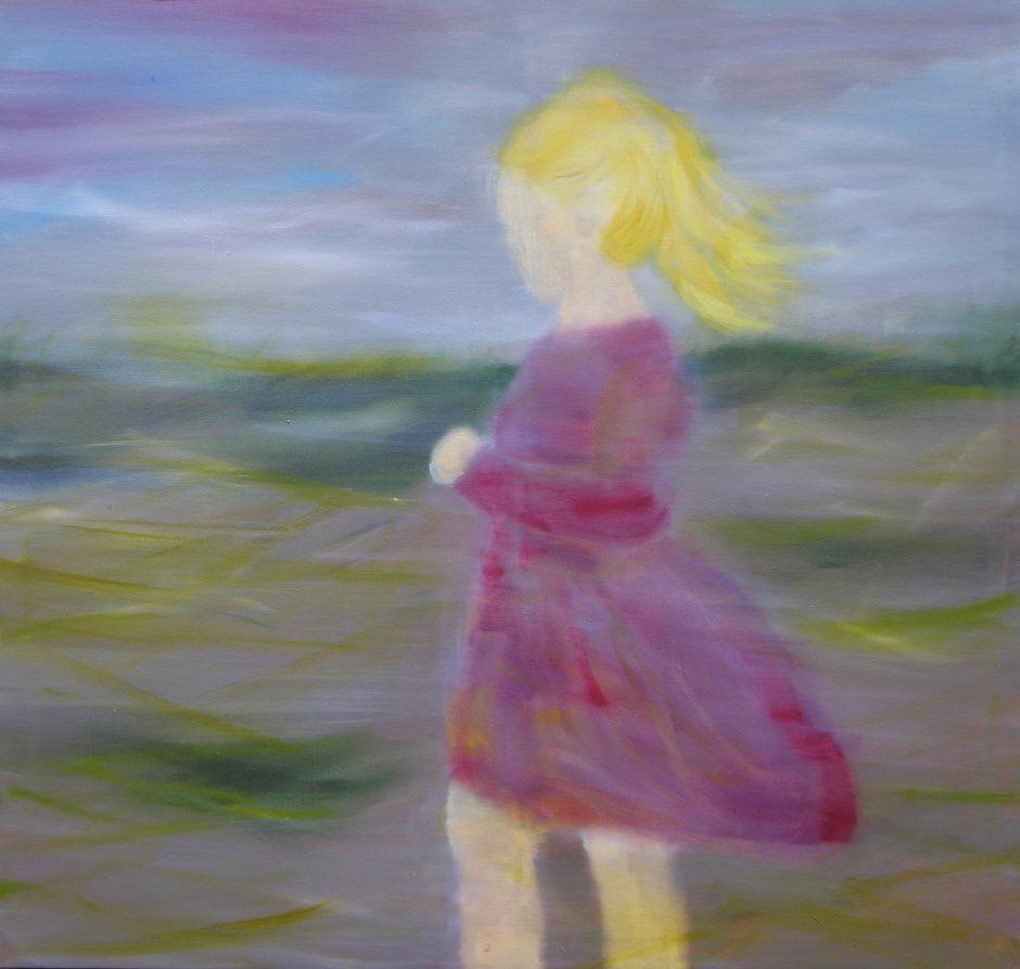 Herbsttag, 2020, Öl auf Nessel, 115 x 110 cm