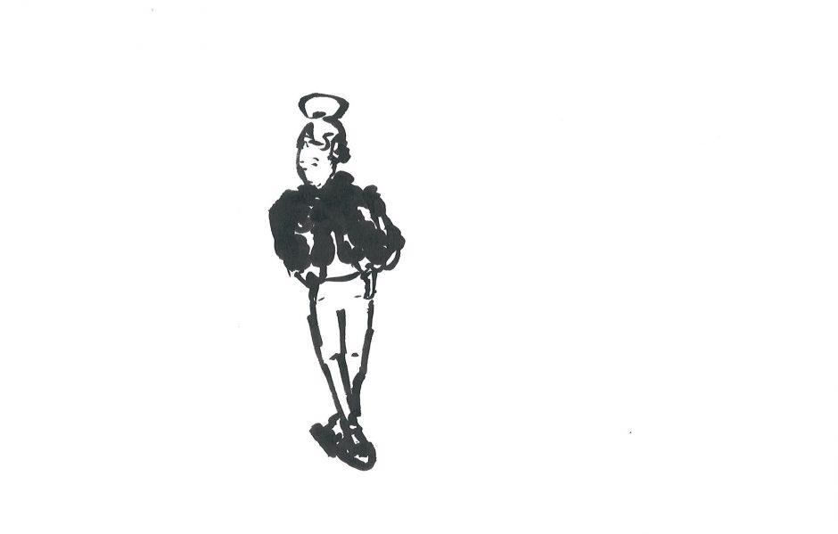 Influencer, 2020, Tusche, 14,8 x 21 cm