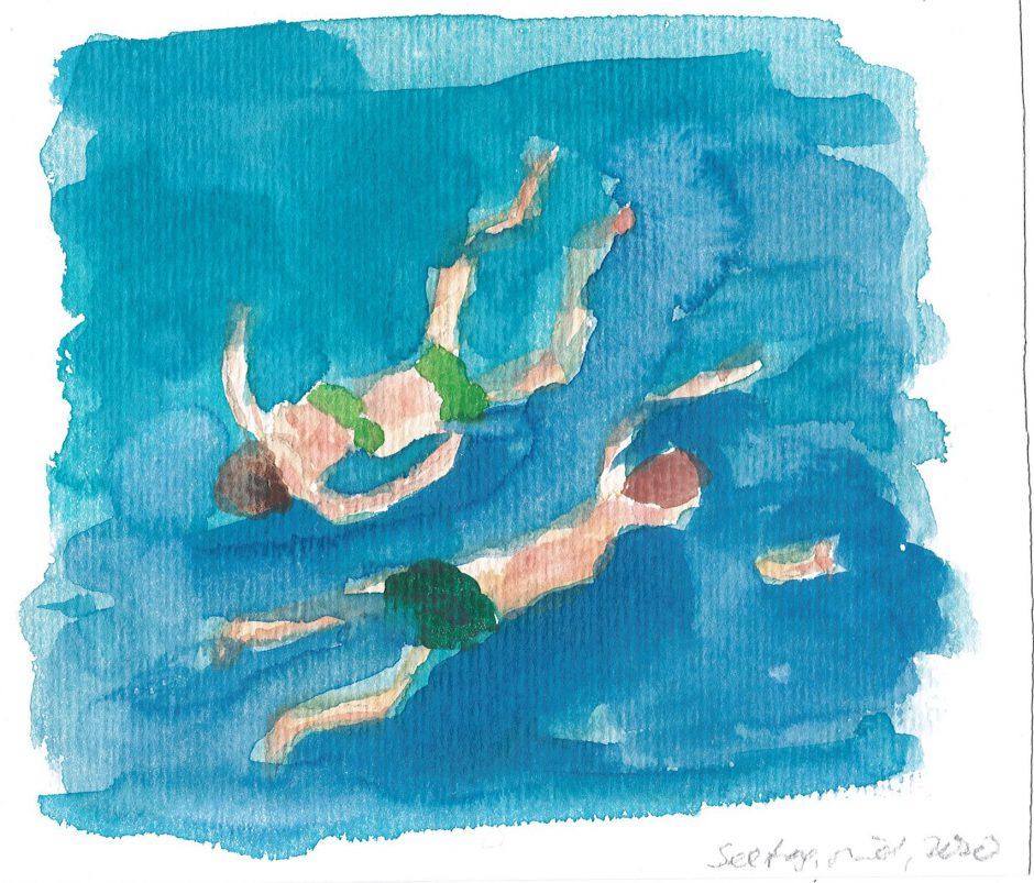 Seetag, 2020, Aquarell, 16 x 17,5 cm