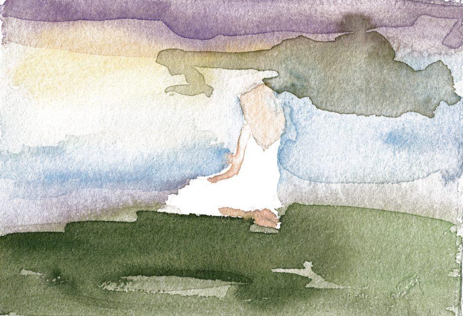 The cloud, 2021, Aquarell, 14 x 20 cm