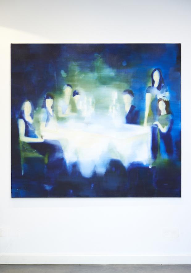 Und der Vater blickte stumm, 2013, Öl auf Nessel, 145 x 160 cm
