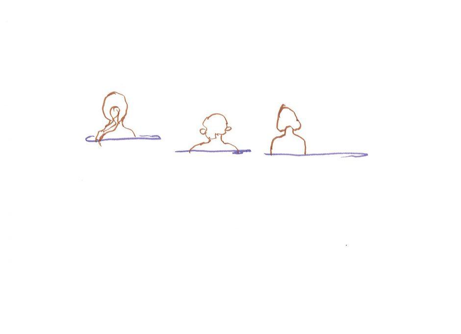 Im Meer, 2020, Filzstift, 14,8 x 21 cm
