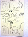 Julien Roux, Carnets des voyages 2007/2008, God is watching you very much, 21x13cm