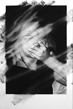 Valentin van der Meulen, o.T, 2013, Kohle schwarzer Stein auf Papier geklebt auf Holz, 146 x 97 cm