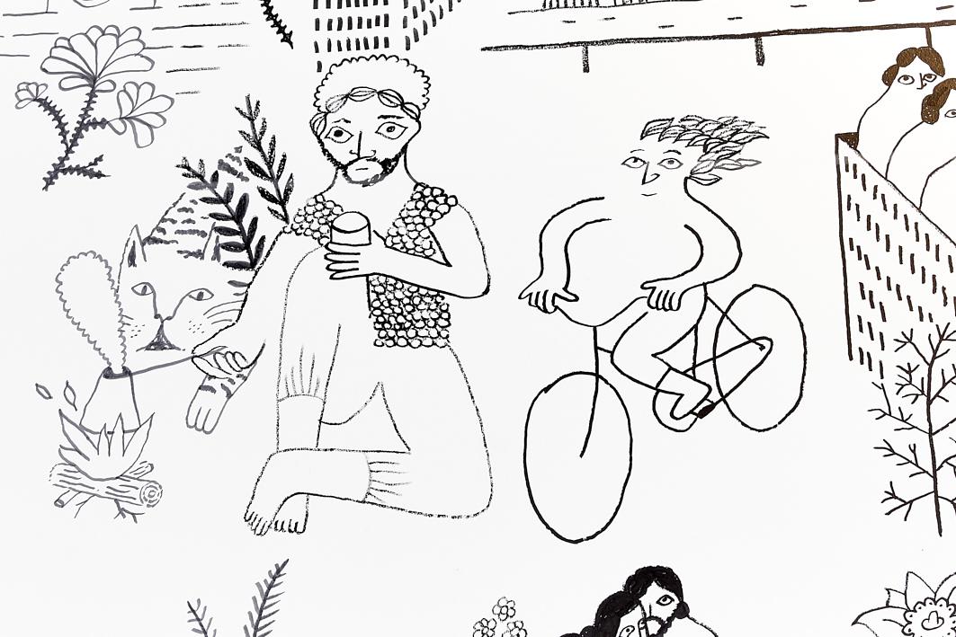 Wandgemälde (Detail)
